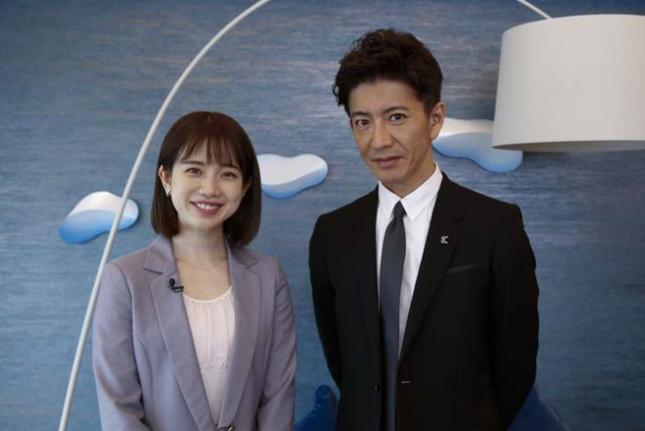 木村拓哉と共演した弘中綾香アナ(テレビ朝日の番組ホームページより)