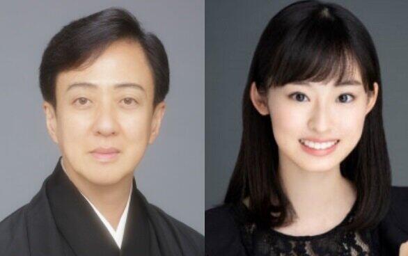 坂東玉三郎と井本彩花(NHKの「麒麟がくる」番組ホームページより)