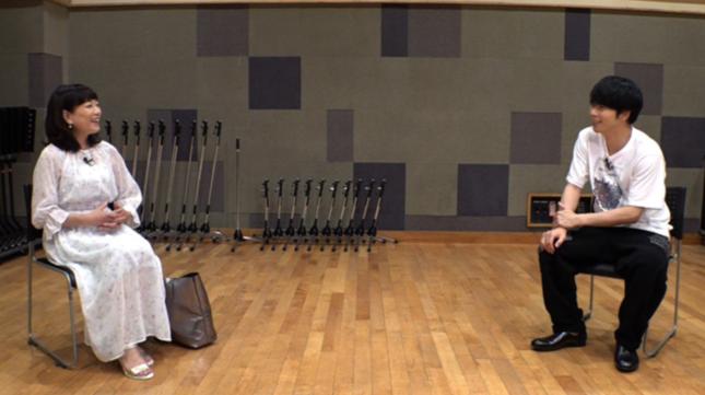 NEWS増田貴久のインタビューを受ける堀ちえみ(24時間テレビ番組ホームページより)