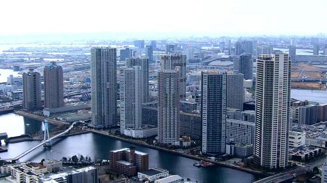 投資マネーが集める東京の湾岸エリア(NHK「クローズアップ現代+」の番組ホームページより)