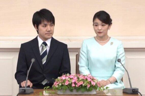 秋篠宮眞子さんと小室圭さん(宮内庁の会見動画より)