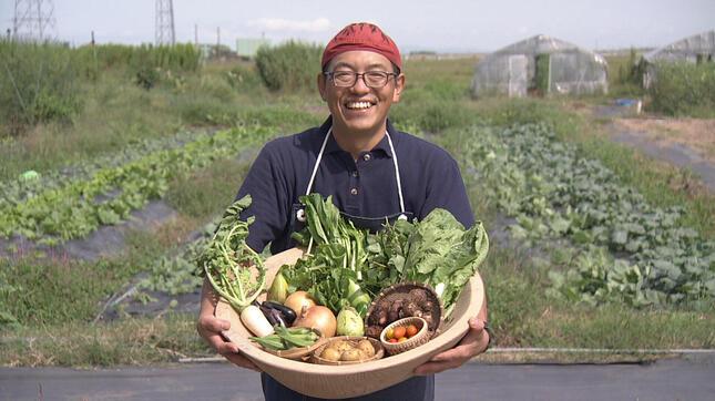 小さな畑でたくさんの品種を無農薬栽培(NHK公式サイトより)