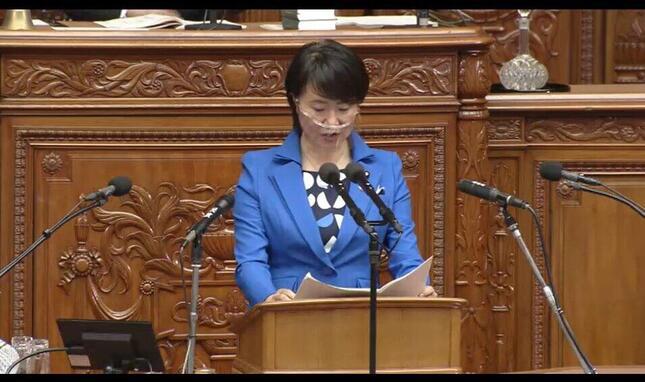 衆議院インターネット審議中継サイトの動画(4月8日、本会議)より。
