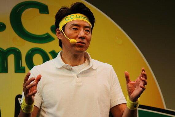 松岡修造さん(編集部撮影)が語る「チャレンジ」。
