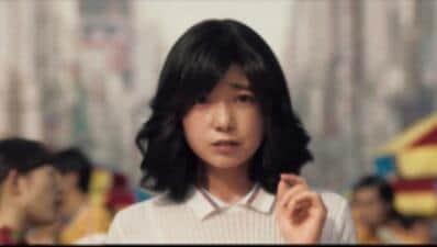 宮崎美子さんが演じた「少女」(日本マクドナルドのプレスリリースより)
