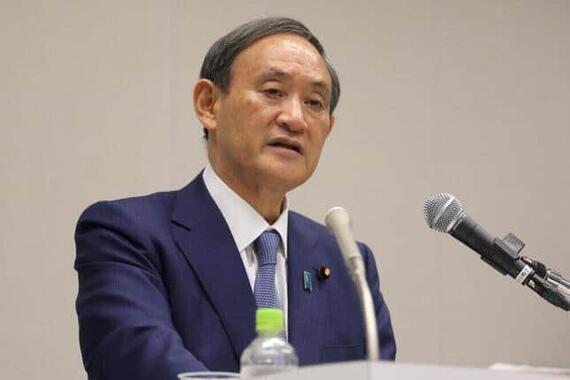 発信力不足が指摘される菅首相(2020年撮影)