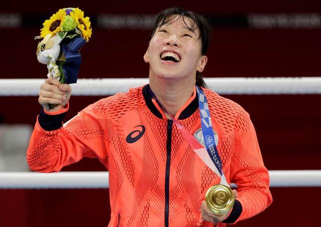 入江聖奈選手(写真:ロイター/アフロ)が金メダルを獲得した
