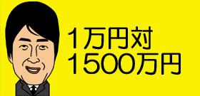 1万円対1500万円