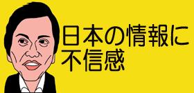 日本の情報に不信感