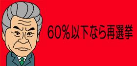 60%以下なら再選挙