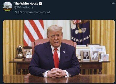 「ホワイトハウス公式ツイッターより」