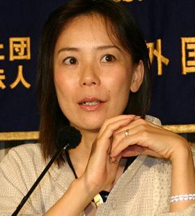 外国特派員協会で「凱旋会見」をする河瀬直美監督